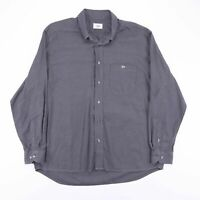 Vintage LACOSTE Grey Casual Long Sleeve Cotton Shirt Men's Size XL (43)