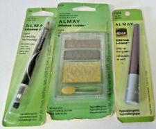 ALMAY Eye Makeup GREEN Eyes Trio Eye Shadow+Crayon Eyeliner+FREE Liquid Liner