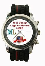 Custom Made Personalized Watch 45mm Case Silicone  24mm Band Your LOGO Design
