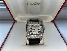 Cartier Santos 100 XL Diamond Watch - Good Condition - Used - With Box