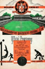 More details for rare football programme wolverhampton wanderers manchester united reserves 1957