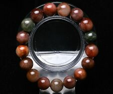 12mm Rare Natural Colorful Rabbit Hair Quartz Crystal Round Beads Bracelet AAA