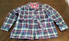 Womens 14 Woolrich Woman Wool Coat Jacket Plaid Blue Pink White Green