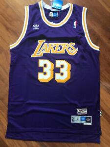 Kareem Abdul Jabbar Los Angeles Lakers Swingman Throwback Jersey Purple S-XXL