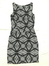 Jessica Simpson Size 2 Sheath Dress Blue Sleeveless Kaleidescope Star Pockets