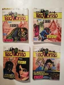 ESCALOFRIO Mexican mini comics Terror horror vintage 4 dif