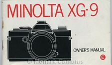 Minolta XG-9 Camera Instruction Book. More Manuals & Owners Guides Listed
