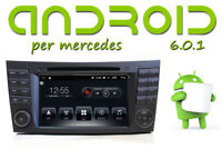 E e CLS W211 Autoradio Android 6 QUADCORE GPS DVD per Mercedes-Benz Bluetooth