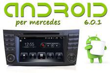 E e CLS W211 Autoradio Android 6 QUADCORE GPS DVD per Mercedes-Benz Bluetooth