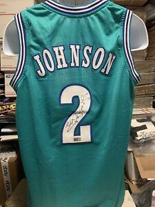 Larry Johnson Charlotte Hornets signed autographed custom Jersey Tristar COA