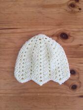 Hand Crochet Baby Hat -  Cream - 0-3 Months