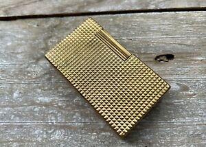 S.T. Dupont Feuerzeug Lighter Ligne 1 Gold groß ohne Gravur Raute geplegt