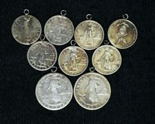 Lot of Silver Philippine American Coins Made into Jewelry, 9c NO RESERVE