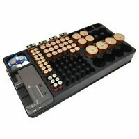 Battery Storage Organizer Tester Removable Case for AAA AA 9V C D/ Cell Battery