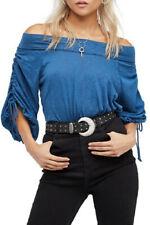 Free People Damen Bohema OB614764 Top Entspannt Jewel Blau Größe XS
