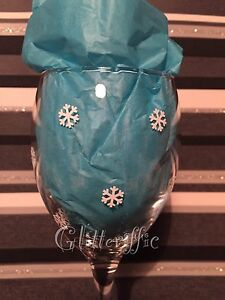 x80 MINI SNOWFLAKES Christmas Vinyl Decal Sticker DIY Glitter Wine Glass