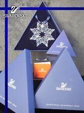 SWAROVSKI  2003 CHRISTMAS ORNAMENT STAR 622498 MINT BOXED + CERTIFICATE