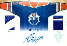 wOw!1/10 RYAN NUGENT HOPKINS HOME SWEATERS JERSEY PATCH AUTO 2011 11 12 TITANIUM