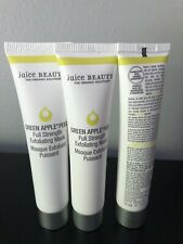 3x JUICE BEAUTY Green Apple Peel Full Strength Exfoliating Mask 15ml/0.5 oz each