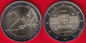 "Germany 2 euro 2019 ""Bundesrat, Federal Council"" Random mint BiMetallic UNC"