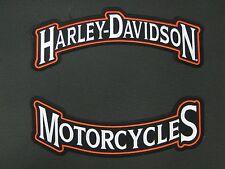 "HARLEY DAVIDSON MOTORCYCLES LARGE PATCH 12"" ""SHIPS INTERNATIONAL"""