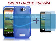 FUNDA GEL TPU AZUL X LINE +  PROTECTOR DE PANTALLA PARA HTC ONE X