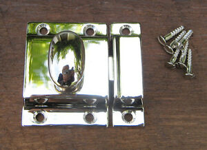 Reproduction Large Solid Brass Cabinet Latch (Polished Nickel)