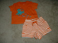 Gymboree Octopus Hugs 2pc Shorts Outfit Size 0-3 months mos m NWT NEW Baby Boy