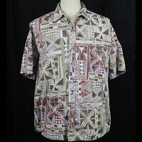 Cooke Street Honolulu Hawaiian Short Sleeve 100% Cotton Shirt Men Sz XL EUC