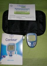 Bayer Contour Diabetic Blood Glucose Monitor System with Carrying Case