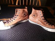 Mens Converse Chuck Taylor All Star Khaki Brown Leather High Top Sneakers Sz 8