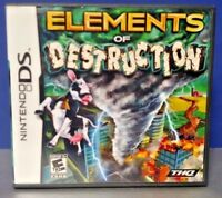 Elements of Destruction -  Nintendo DS DS Lite 3DS 2DS Game + Tested