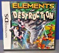 Elements of Destruction -  Nintendo DS DS Lite 3DS 2DS Game + Tested