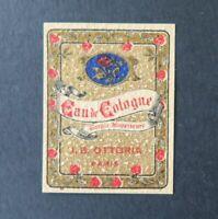 Etiquette  parfum EAU DE COLOGNE OTTORIA Perfume Label French