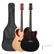 New 41 inch Cutawary Round Back 20 Frets Right Handed Acoustic Guitar w/ Bag