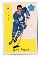 1959-60 Parkhurst Hockey Card Larry Regan #17