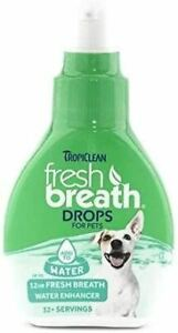 Tropiclean Fresh Breath Drops for Dogs Dents with Natural Ingredients