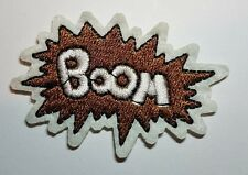 BOOM Embroidered Iron On Sew on Patch Transfer Comic Book Super Hero Transfer