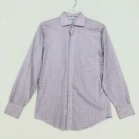 Brooks Brothers SLIM FIT Shirt Mens Size 15  4 / 5 Purple Long Sleeve Button Up