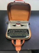 Vintage 1950s Royalite Portable Typewriter with Leather Travel Case. TESTED