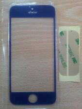 Cristal Pantalla Digitalizador para Apple Iphone 5 5G 5S 5C Azul Oscuro+Adhesivo