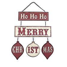 Lesser & Pavey Retro Ho Ho Ho Merry Christmas Wall Hanging Metal Plaque
