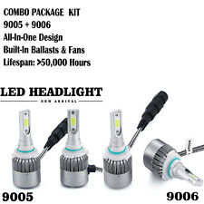4 Bulb Kit 2000W 300000LM 9005 9006 6000K Combo CREE LED Headlight High Low Beam