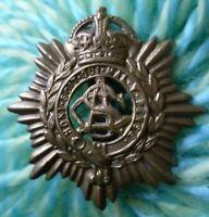 WW1 ASC Army Service Corps Cap Badge KC BRASS Slider Antique ORIGINAL