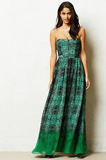 Anthropologie Vernalis Maxi Dress Long Cocktail Party Evening Wedding Gown, Sz 6
