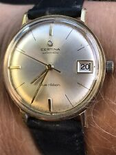 VINTAGE GENTS CERTINA BLUE RIBBON GOLD PLAGUED QUALITY AUTOMATIC FULLY SERVICED