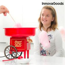 Macchina Elettrica per Zucchero Filato con Ruote InnovaGoods 500W Rossa
