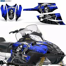 FireCat Arctic Cat Graphic Kit  F5,F6,F7 Sled Sabercat Snowmobile Wrap REAP BLU