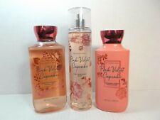 Bath Body Works Pink Velvet Cupcake gel wash lotion & fragrance spray mist set