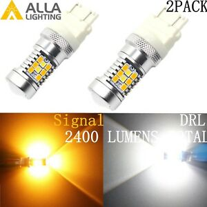 Alla Lighting LED Turn Signal Bi-color Amber Yellow Switchback Flashback Bulbs